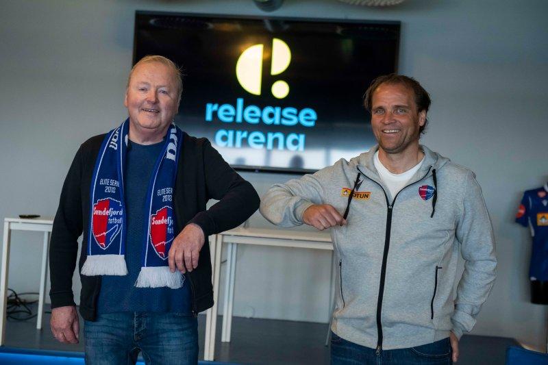 Velkommen til Release Arena, her representert ved Øistein Eriksen (t.v) og Hans Erik Ødegaard (t.h)&nbsp;<em>Foto:&nbsp;Katrine Lunke/Apeland</em>