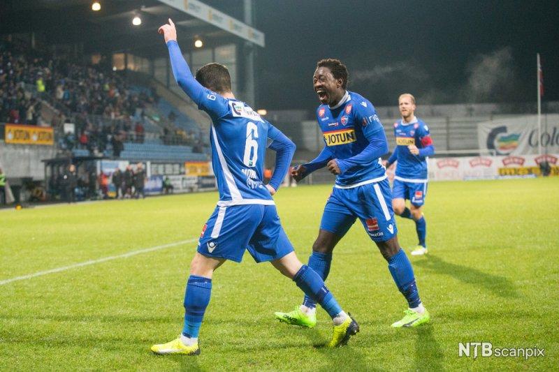 1-1: Pau Morer jubler for scoring mot Lillestrøm. (Foto: Audun Braastad / NTB scanpix)